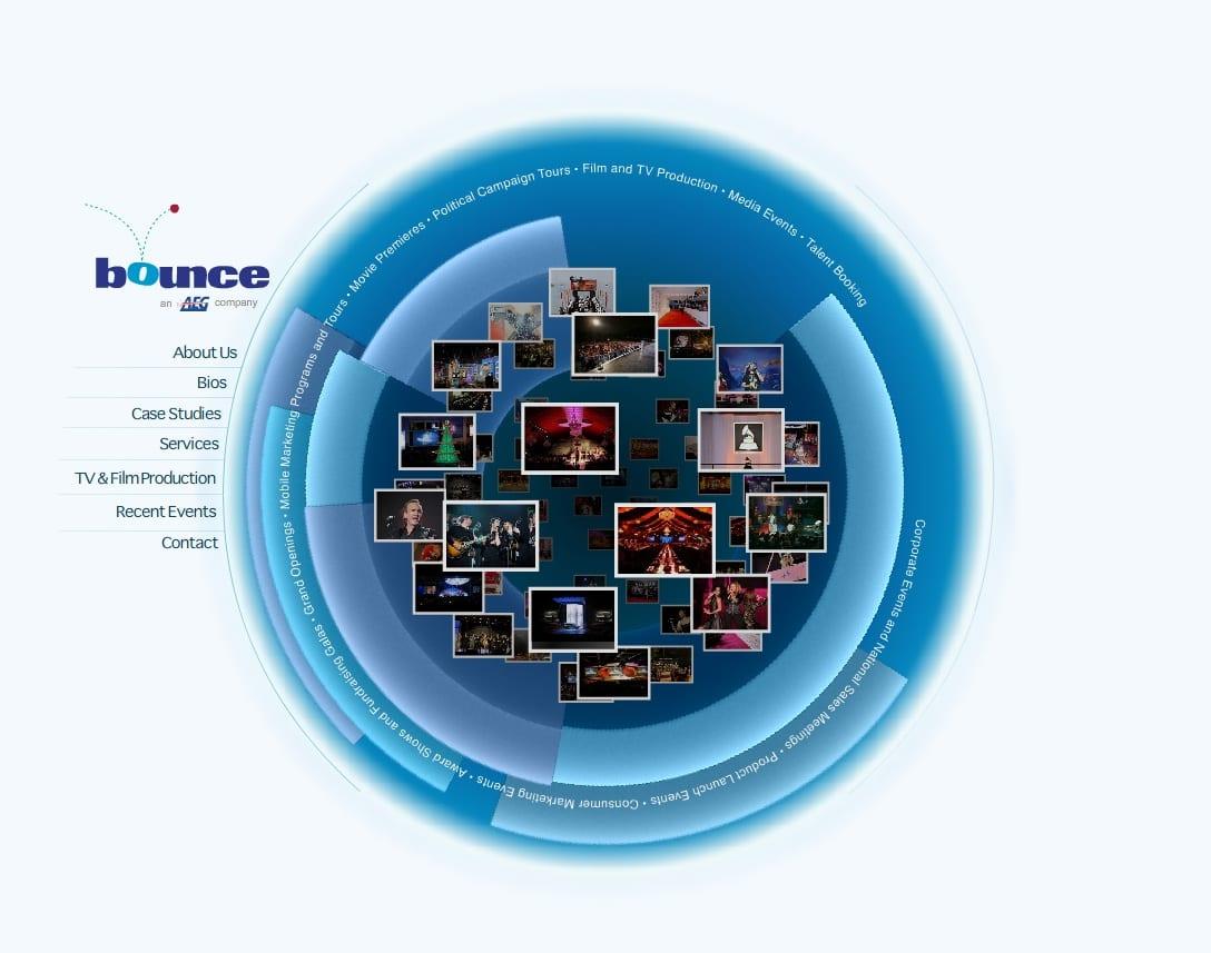 Bounce-event-production-web-design
