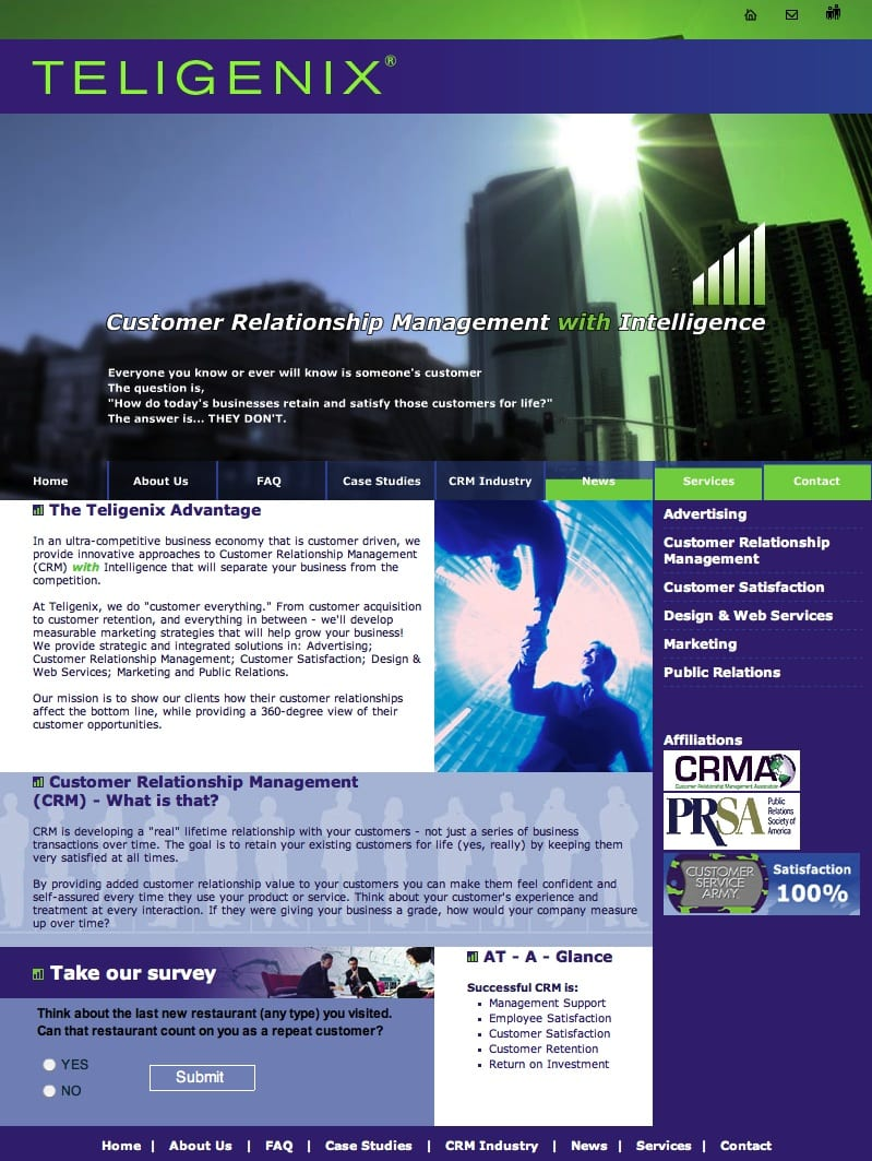 Teligenix-custtomer-service-web-design