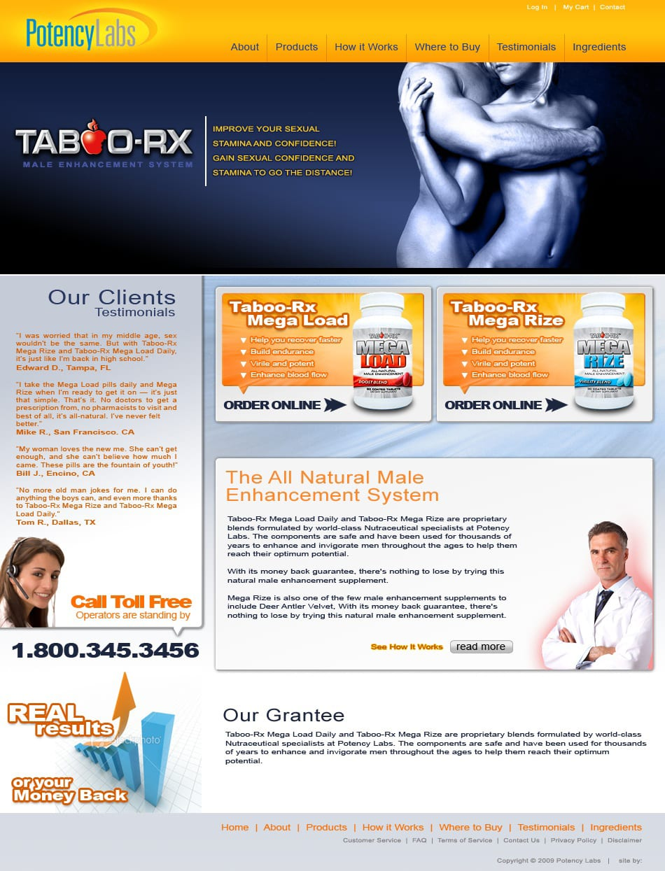 potency-labs-male-supplement-web-design