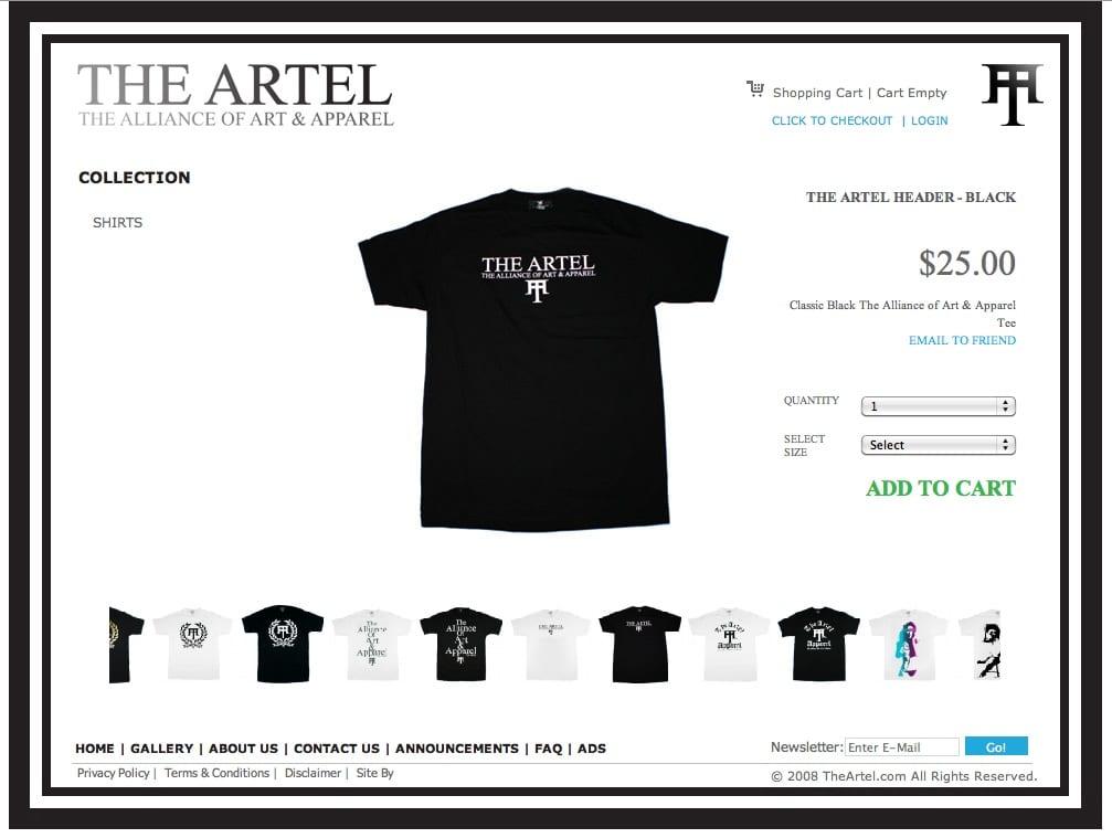 the-artel-t-shirt-web-design